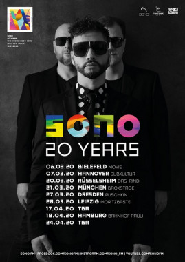 Sono - 20 Yeaers Tour 2020 + Tickets