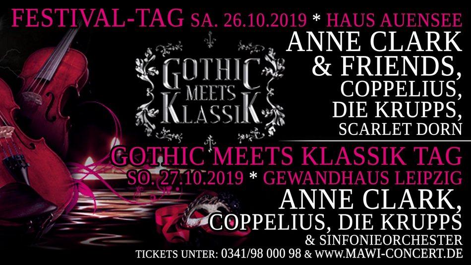 Ticketverlosungsaktion - Gothic Meets Klassik 2019 in Leipzig ANNE CLARK & Fri...
