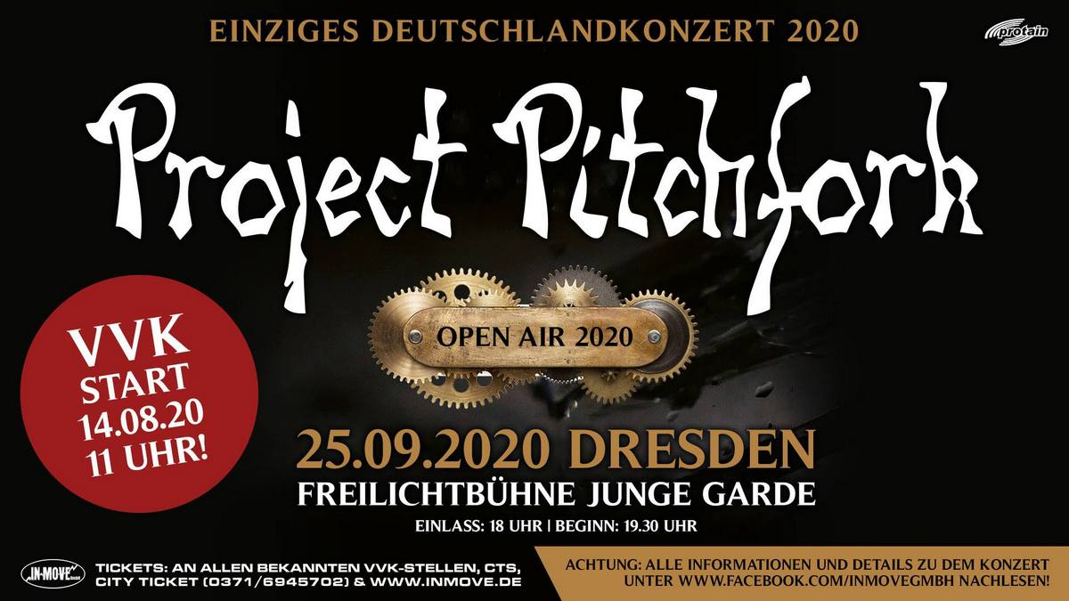 VNV Nation ++ Project Pitchfork ++ Eisbrecher ++ Blutengel in Dresden 2020